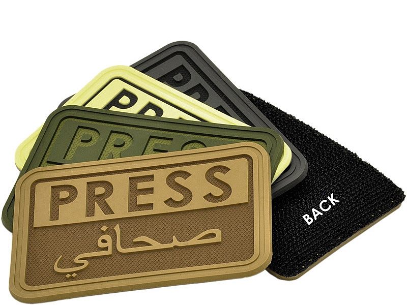 Press/Arabic™ 3D Polymer/Velcro Reporters Patch