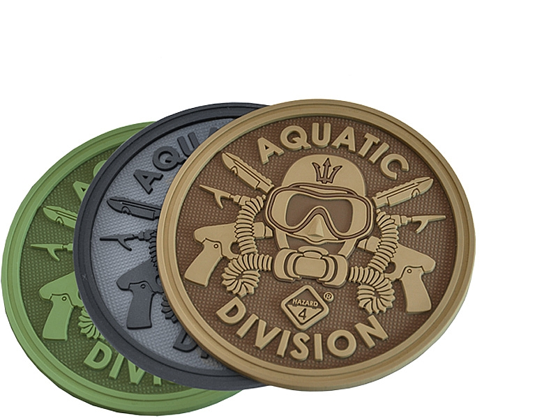 Aquatic Division™ 3D Polymer/Velcro Morale Patch